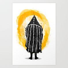 Selknam Art Print by Alvaro Tapia Hidalgo - $20.00