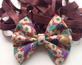 Rusty Coloured Floral HeadBow on Cappuccino Coloured Elastic