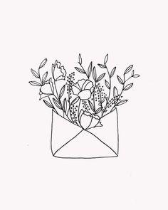 + Wolf Studio // Flower envelopeDot + Wolf Studio // Flower envelope Bouquet flower sketch White Flowers Simple Glass Vase Bottle Patterned Illustration Wherever life plants you, bloom with grace Bullet Journal Art, Bullet Journal Inspiration, Sketchbook Inspiration, Bordado Popular, Minimalist Drawing, Botanical Illustration, Illustration Art, Art Sketchbook, Drawing Sketches