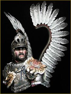 Resin Model Miniature Polish Winged Hussar 17th Centry Bust 1: 10 Scale