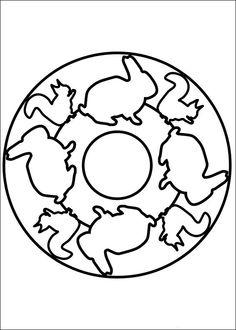 Desenhos para colorir para crianças. Desenhos para imprimir e colorir Mandalas 32