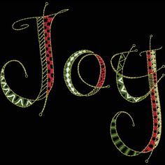 Christmas Embroidery Design | Use this embroidery word design for easy embroidery ideas like stockings, shirts or wall hangings.
