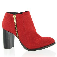 Marta Jonsson Red suede snake ankle boot