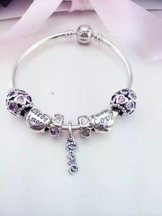 Pandora Sterling Silver Bangle Charm Bracelet CB01373 223dedc44dc
