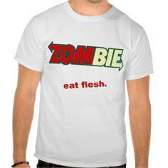 Zombie Eat Flesh Subway Parody Tshirts  #funny #humor #parody #zombies #tshirts