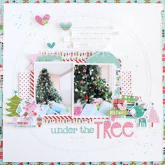 Picture 1 of Under The Tree *Bella Blvd* by GailL Scrapbook Sketches, Scrapbook Page Layouts, Scrapbook Cards, Scrapbook Storage, Christmas Scrapbook Layouts, Scrapbooking Ideas, Digital Scrapbooking, Stampin Up, Christmas Cards