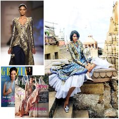 Our asymmetric Royal Blue Brocade Jacket makes a dazzling appearance in this ethereal bridal fashion editorial from Grazia Bride, from the latest issue of Grazia Magazine.  Model Pooja Mor Styled by Ekta Rajani Shot by Taras Taraporvala — with Archana Akil Kumar, Pooja Mor, Ekta Rajani and Taras Taraporvala.