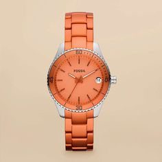Stella Mini Aluminum and Stainless Steel Watch – Orange  YES PLEASE!!!!