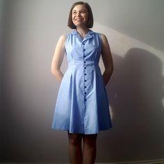 Vintage Shirt Dress - The Fold Line The Fold Line, Minimalist Wardrobe, Dress Sewing, Shirtdress, Sewing Patterns, Clothing, How To Make, Vintage, Inspiration