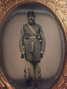 1-4-Plate-Ruby-Ambrotype-Union-Corporal-Armed-In-a-Half-Case