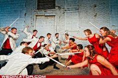 funny groomsmen vs bridesmaids games   ... Your special day... is hilarious. - funny wedding photos - Cheezburger