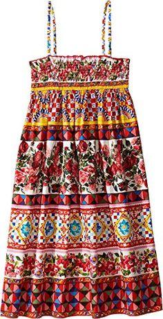 Dolce & Gabbana Kids D&G Girl's Mambo Poplin Dress