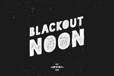 Blackout Noon - Vintage Stencil Fonts It's here, a highly specialized version of my hit open source font Blackout! It comes in regular and by Finck Type (FT) Stencil Font, Stencils, Business Brochure, Business Card Logo, Open Source Fonts, Design Typography, Lettering, Typography Inspiration, Design Inspiration