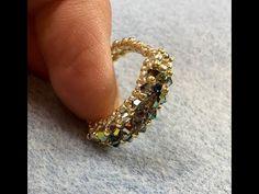 CRAW Sparkle Ring Tutorial - fix. Diy Beaded Rings, Diy Jewelry Rings, Diy Rings, Bead Jewellery, Beaded Jewelry, Jewelery, Beaded Bracelets, Jewelry Making Tutorials, Seed Bead Tutorials