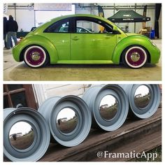 Instagram media by bandedwheelsessex - More happy customers #bug #beetle #whitewalls #smoothies #green #badass #bandedsteels #bandedwheels #bandedwheelsessex