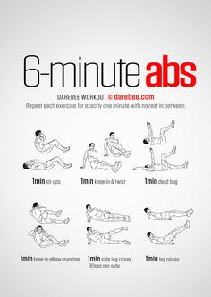6-Minute Abs Workout | Posted By: NewHowtoLoseBellyFat.com