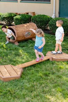 Platforms and Balancing beams provide toddler-sized exercise and exploration, aiding physical development and improved self-esteem.