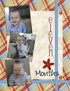 7 month old scrapbook page - Google Search