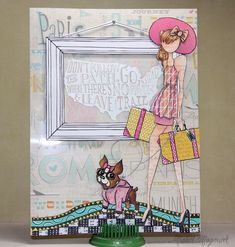 These journal pages by Nichol are so much fun using scraps from her Simon Says Stamp card kit and adding a Simon.