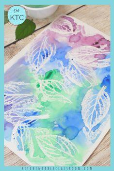 Art Education Projects, Art Projects, Project Ideas, Autumn Leaves Craft, Kindergarten Art, Preschool, Watercolor Projects, Ecole Art, Kids Canvas