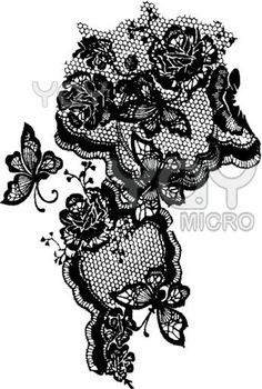 butterfly & lace tattoo. would love this on my upper thigh-hip area