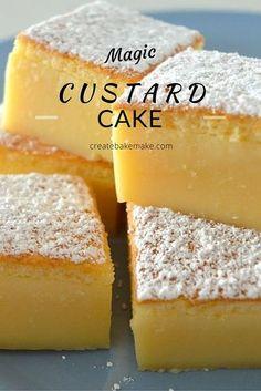 This Vanilla Magic Custard Cake is all kinds of amazing! This Vanilla Magic Custard Cake is all kinds of amazing! Custard Recipes, Baking Recipes, Cookie Recipes, Dessert Recipes, Custard Desserts, Mini Pie Recipes, Vanilla Desserts, Amish Recipes, Dutch Recipes