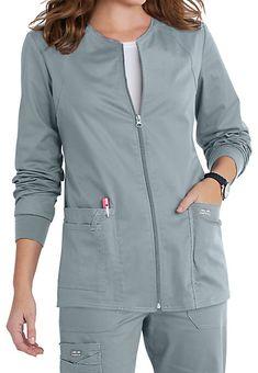 Cherokee Workwear Core Stretch Zip Front Warm Up Scrub Jackets Scrubs Outfit, Scrubs Uniform, Scrub Skirts, Dental Uniforms, Doctor Scrubs, Stylish Scrubs, Cute Scrubs, Scrub Jackets, Womens Scrubs