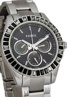Fossil Women's ES2957 Stainless Steel Analog with Black Dial Watch