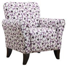 Found it at Wayfair - Sasha Armchair in Purple and White