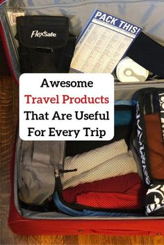Awesome Travel Products That Are Useful For Every Trip  #packingtips #travelgear