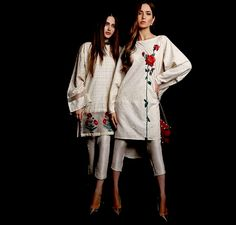White and red . Indian Suits, Indian Dresses, Indian Wear, Pakistani Couture, Pakistani Outfits, Pakistani Bridal, Event Dresses, Casual Dresses, Kurti Patterns