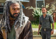 The Walking Dead King Ezekiel  ( Khary Payton ) - Rick Grimes ( Andrew Lincoln )