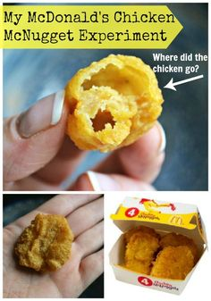Liquid chicken??? Eww, yuck!  McDonald's Chicken McNugget experiment - where did the chicken go?