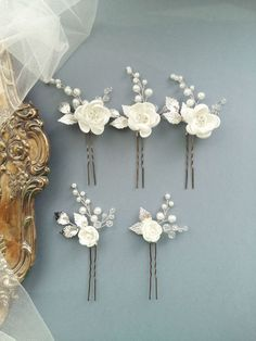 Flower Bridal Hair Pins Bridal Hair Piece Bridal headpiece