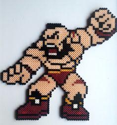 Zangief (Street Fighter) perler beads by Nerd Melt