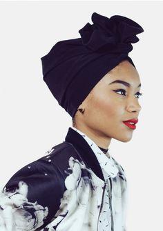 Turban flexible - L'Africaine - REGLISSE - Indira de Paris - Turbans faciles & Headbands