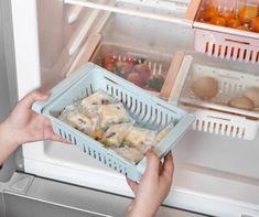 Kitchen Storage Refrigerator Partition Storage Rack – toogcash Wall Storage, Storage Rack, Storage Baskets, Kitchen Storage, Storage Ideas, Storage Drawers, Storage Solutions, Extra Storage, Kitchen Cart