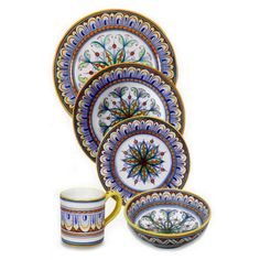 Instead of registering for China we registered for Italian pottery. We couldn't find a single china pattern that fit our styles, and Italian pottery seemed only right for a Donatelli-Miceli wedding. :) Our pattern: Geometrico, Deruta, Italian Dinnerware Place Setting, Pattern 7.