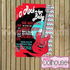 Rock and Roll Invitation Rocker Baby Shower by MimisDollhouse, $12.99