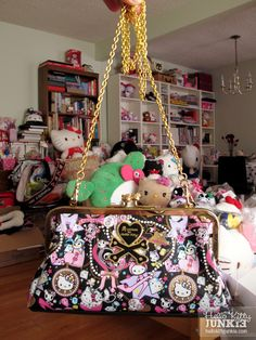 tokidoki x Hello Kitty purse w/ gold chain strap