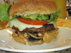 - making these for the bbq tomorrow night! hopefully they are good because we've got tons of moose meat to eat! Moose Burger Recipe, Moose Recipes, Burger Recipes, Game Recipes, Cooking Venison Steaks, Venison Recipes, Moose Meat, Moose Hunting, Pheasant Hunting