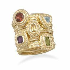 x peridot, african amethyst, garnet, blue topaz and x citrine. Best Jewellery Design, Size 10 Rings, Stone Rings, Fashion Rings, Amethyst, Peridot, 925 Silver, Jewelery, Fine Jewelry