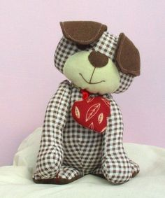Harris puppy dog soft toy sewing pattern at Makerist - Image 4 Sewing Toys, Free Sewing, Sewing Crafts, Sewing Projects, Sewing Kit, Sewing Clothes, Sewing Tutorials, Sewing Ideas, Sewing Stuffed Animals