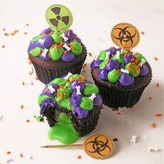 Cupcakes para una fiesta zombie / Cupcakes for a zombie party