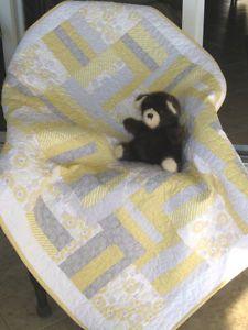 Baby Crib Quilt - Modern/Contemporary Design - Gender Neutral
