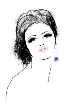 """Eva"" illo by Jennifer R Smith Studio"