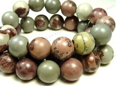 Crazy Horse Natural Gemstone Round Beads - 19pcs - 10mm to 11mm - Brown, Gray, Tan, Mauve - BC34 by BlackrockBeads on Etsy https://www.etsy.com/listing/117246469/crazy-horse-natural-gemstone-round-beads