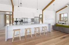 Check out what the Faraday Aussie Bush House looked like before and after it's incredible transformation in episode 10 of Grand Designs Australia Season Grand Designs Australia, Latest House Designs, Design Trends, Flooring, Lifestyle, Kitchen, Table, Furniture, Treehouses
