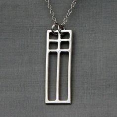 Square Mac Pendant by ThatSilverTouch on Etsy