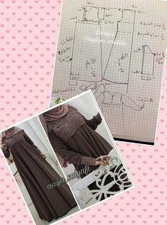 مهم Sewing Lessons, Sewing Hacks, Sewing Tutorials, Sewing Projects, Dress Sewing Patterns, Clothing Patterns, Circle Skirt Pattern, Abaya Pattern, Niqab Fashion